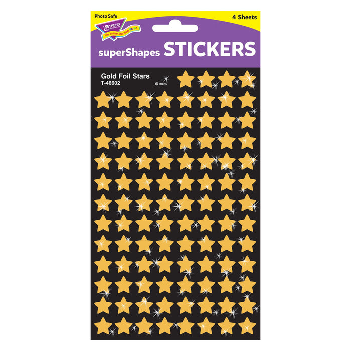 T46602 Stickers Gold Foil Stars Package