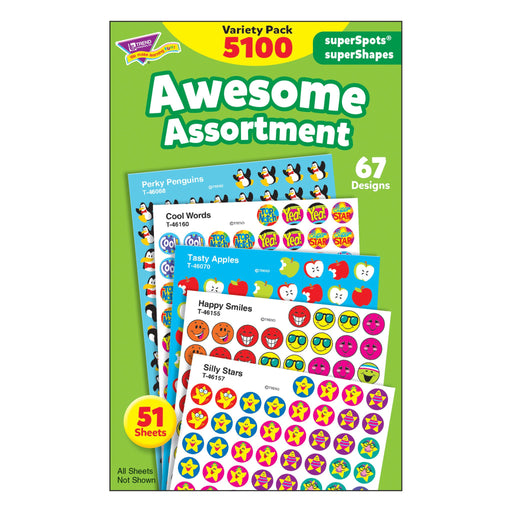 T46826 Sticker Chart Variety Pack Awesome Assortment