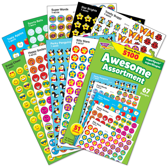 Awesome Assortment superSpots® & superShapes Stickers Variety Pack