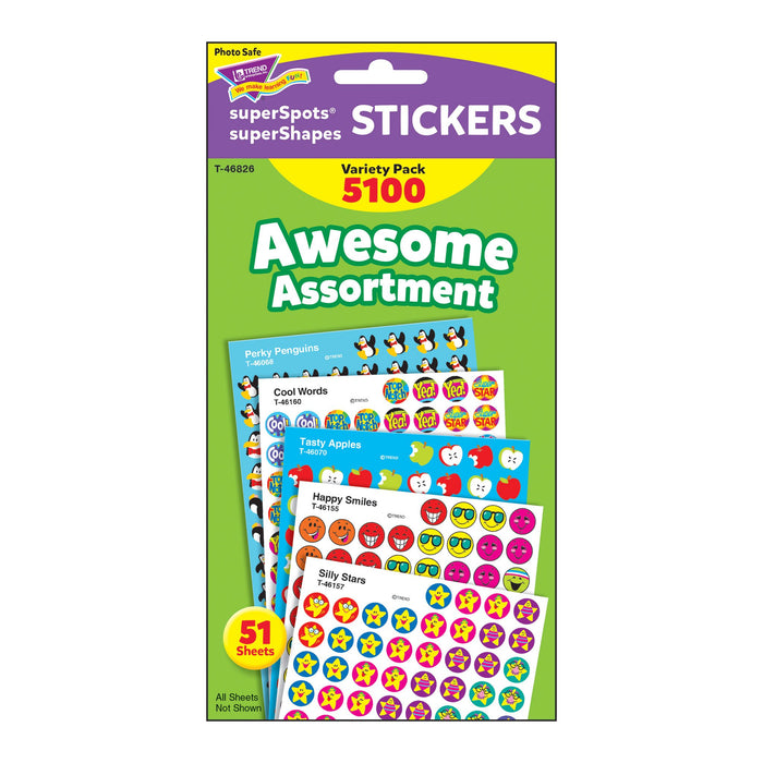 T46826 Sticker Chart Variety Pack Awesome Assortment Package