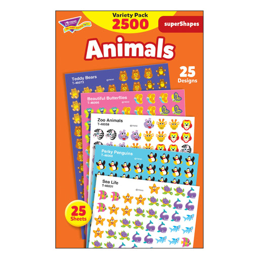 T46904 Sticker Chart Variety Pack Animals
