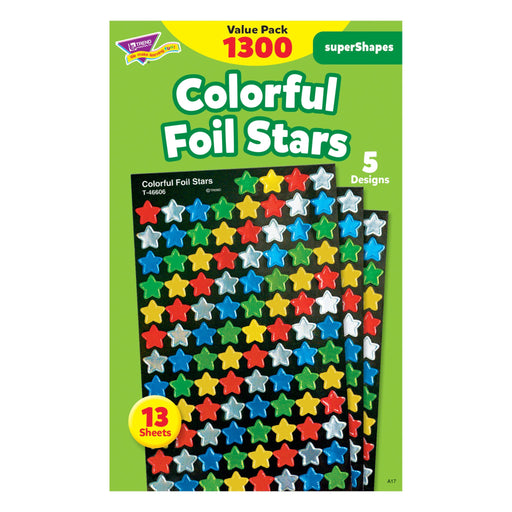 T46912 Sticker Value Pack Colorful Foil Stars