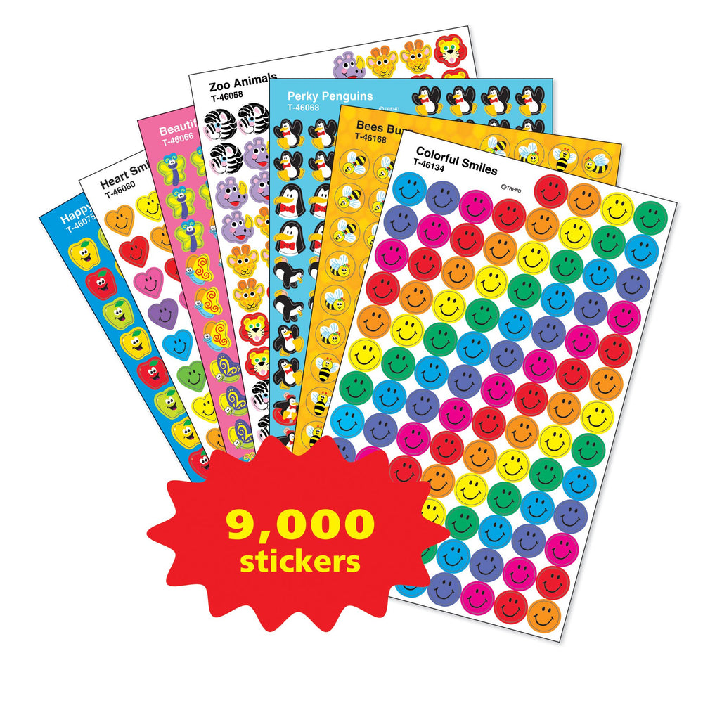 T46913 Sticker Variety Pack Chart Spots Shapes