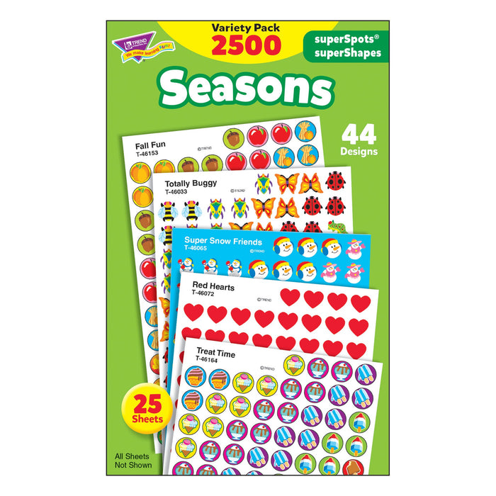 T46914 Sticker Chart Variety Pack Seasons
