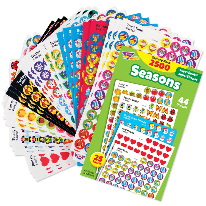 Seasons superSpots® & superShapes Stickers Variety Pack