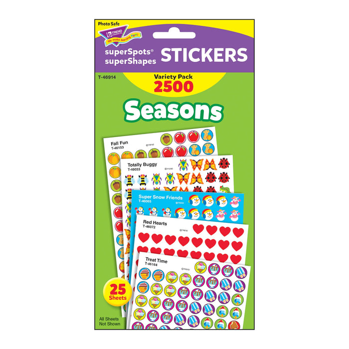 T46914 Sticker Chart Variety Pack Seasons Package