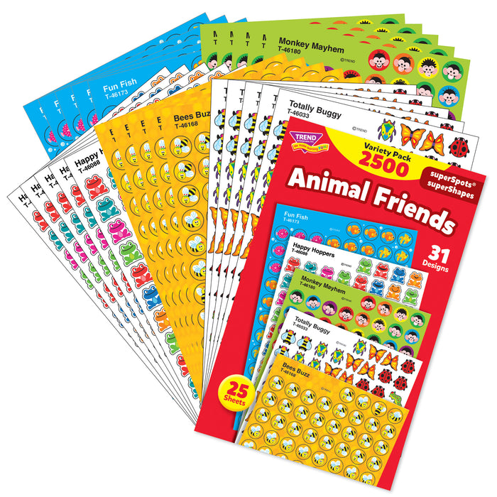 T46915 Sticker Chart Variety Pack Animal Friends