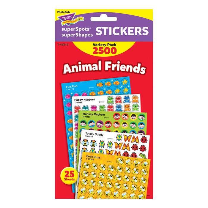 T46915 Sticker Chart Variety Pack Animal Friends Package