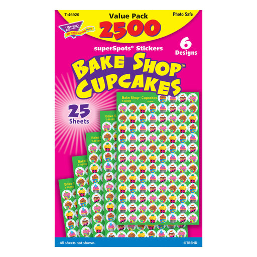 T46920 Sticker Chart Value Pack Cupcakes