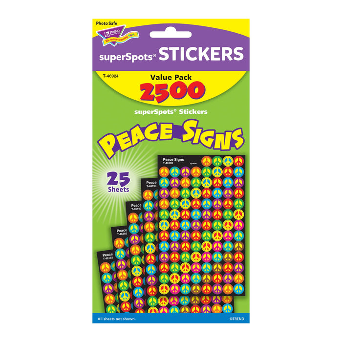 T46924 Sticker Chart Value Pack Peace Signs Package