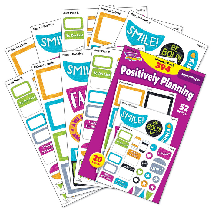 T46933 Sticker Variety Pack Harmony Positively Planning
