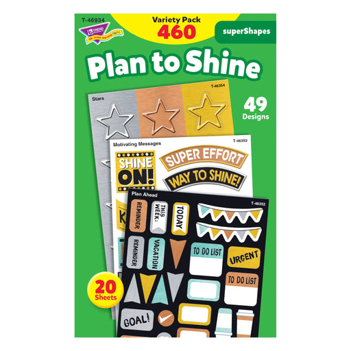 T46934 Sticker Variety Pack Metal Plan To Shine