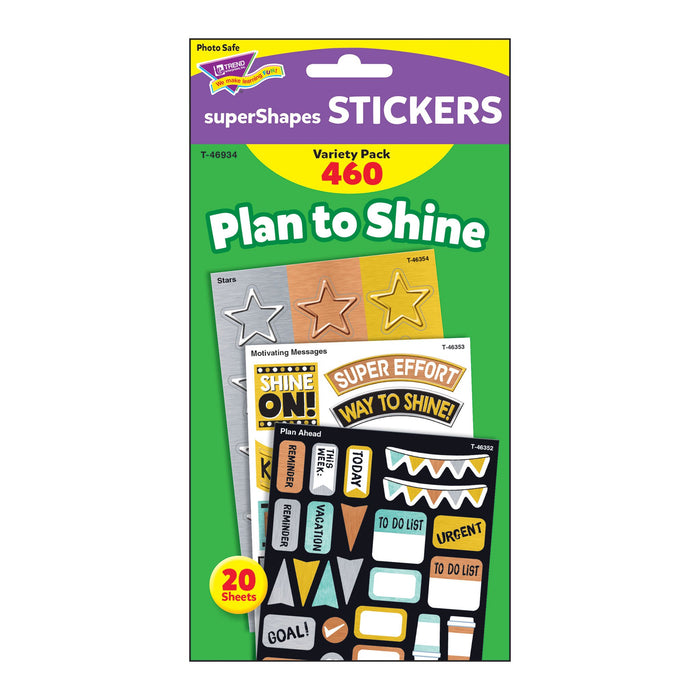 T46934 Sticker Variety Pack Metal Plan To Shine Package