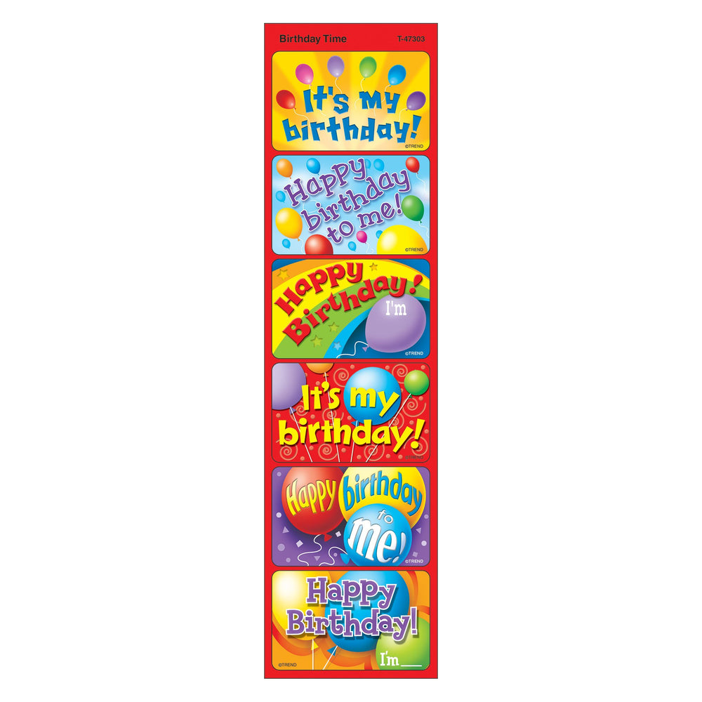 T47303 Stickers Birthday Time