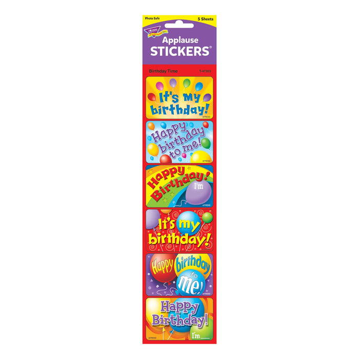 T47303 Stickers Birthday Time Package