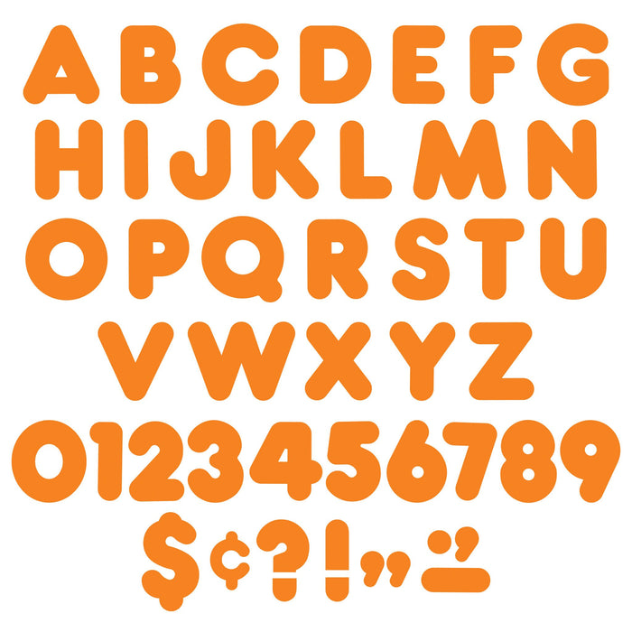 T475 Letters 4 Inch Casual Orange Alphabet