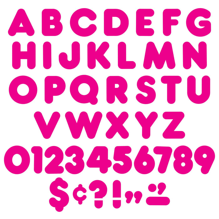 T477 Letters 4 Inch Casual Pink Alphabet