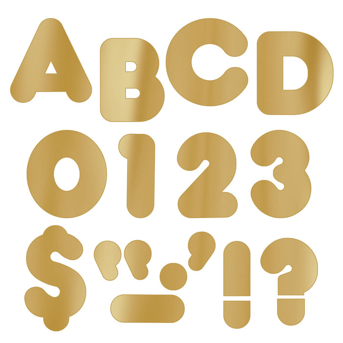 T479 Letters 4 Inch Casual Gold Metallic