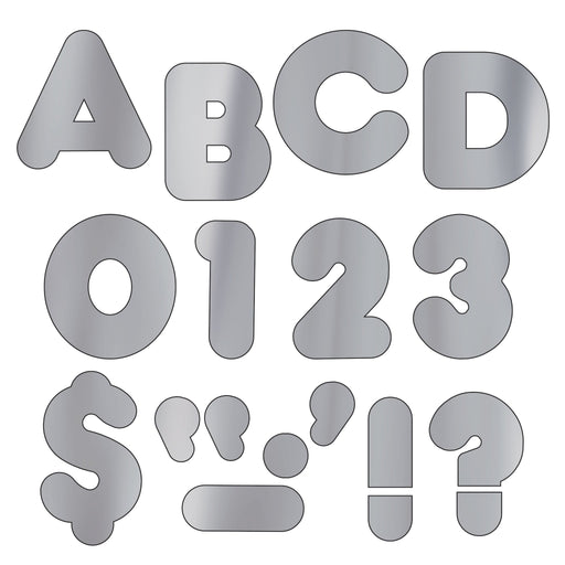 T480 Letters 4 Inch Casual Silver Metallic