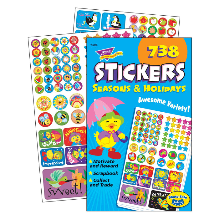 T5006 Sticker Pad Seasons Holidays