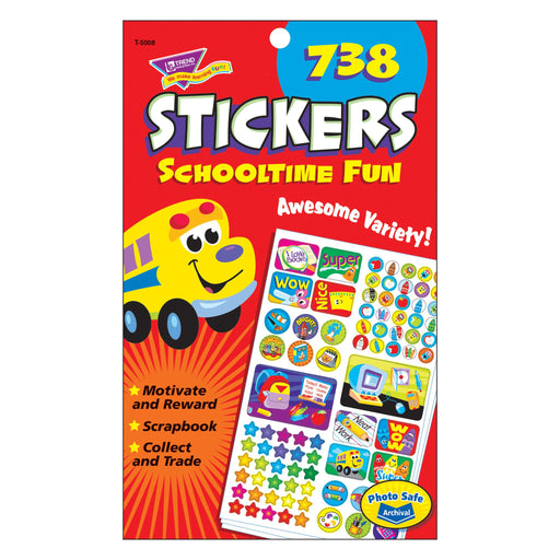 T5008 Sticker Pad Schooltime Fun