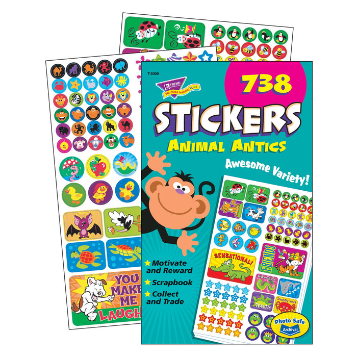 T5009 Sticker Pad Animal Antics
