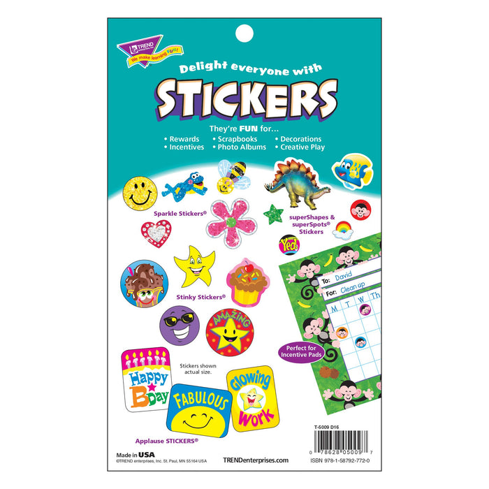 T5009 Sticker Pad Animal Antics Package Back