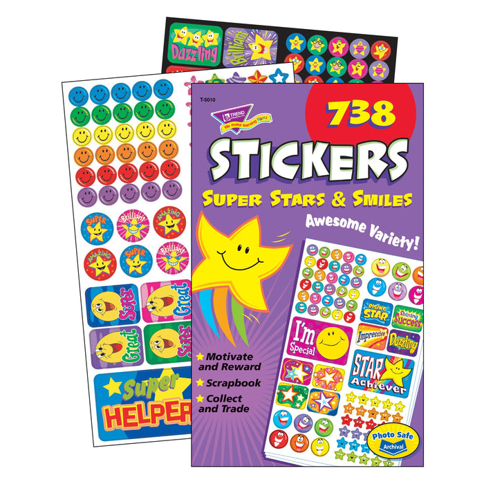 T5010 Sticker Pad Super Stars Smiles