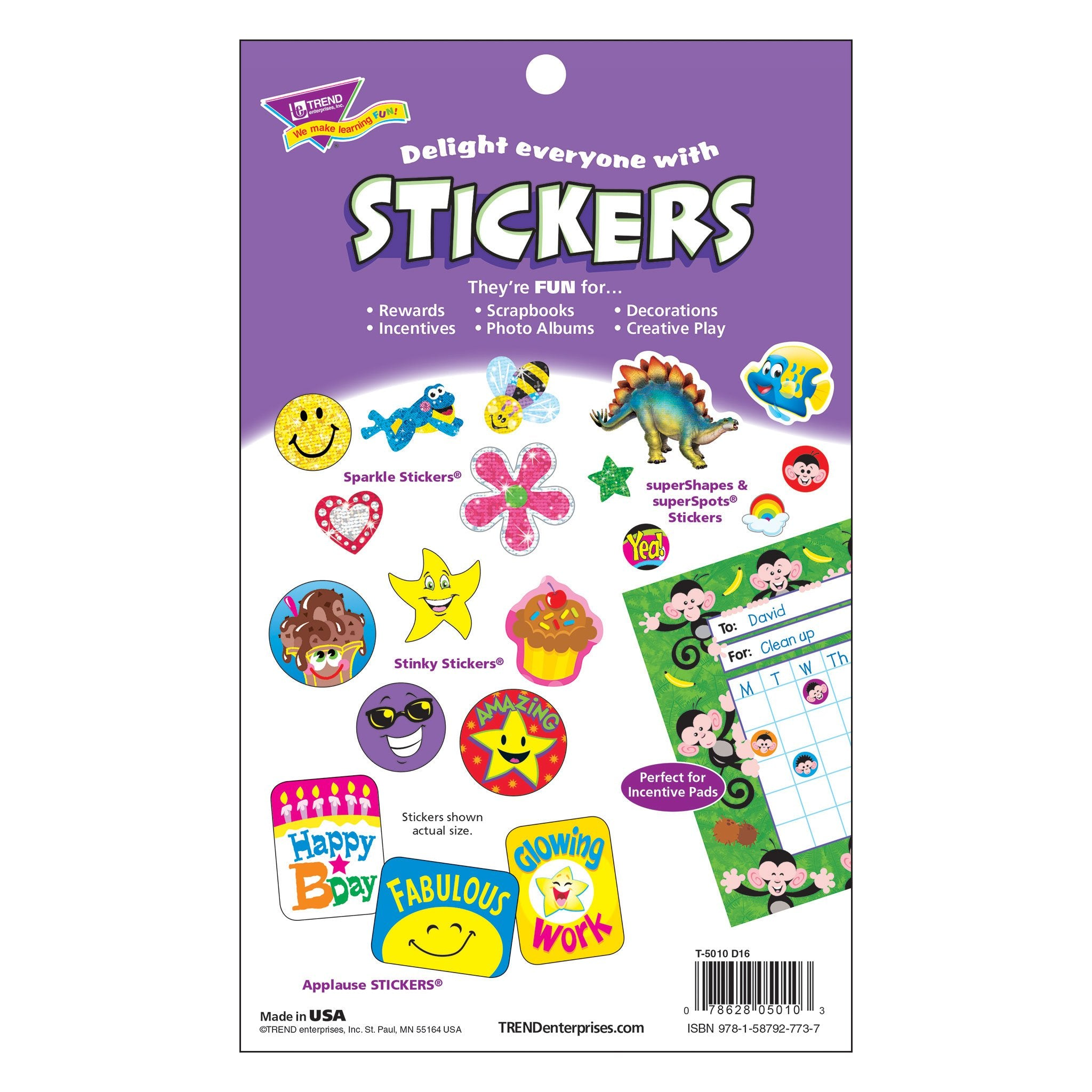 T5010 Sticker Pad Super Stars Smiles Package Back