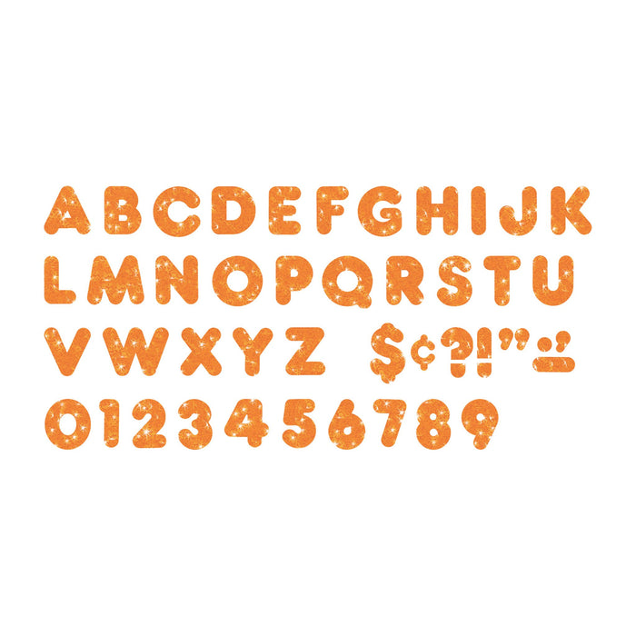 T513 Letters Inch Casual Orange Sparkle Alphabet