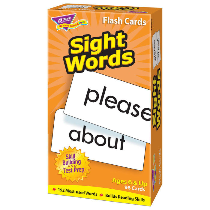 T53003 Flash Cards Sight Words Box Right