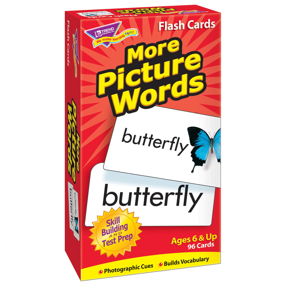 T53005 Flash Cards More Picture Words Box Left