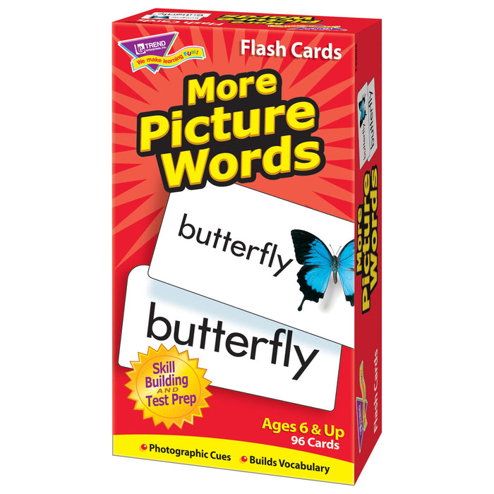 T53005 Flash Cards More Picture Words Box Right