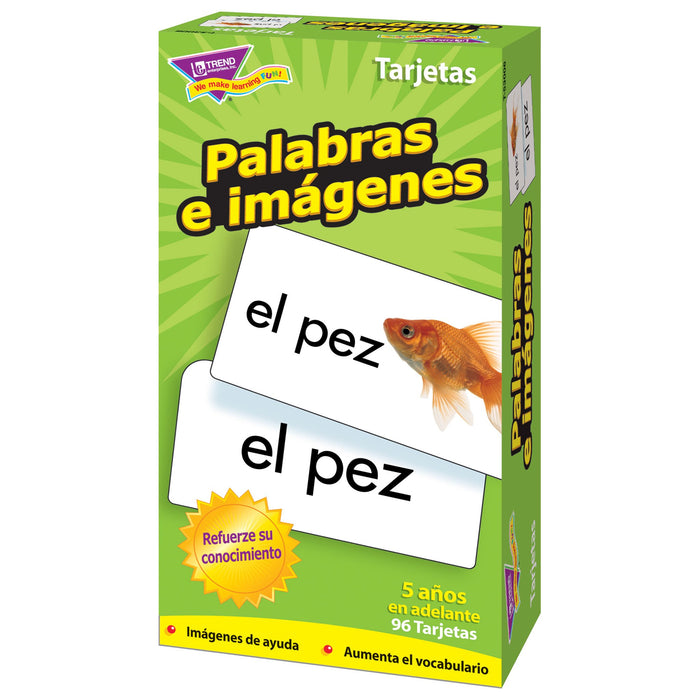 T53006 Flash Cards Picture Words Spanish Box Right