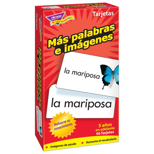 T53007 Flash Cards More Picture Words Spanish Box Left