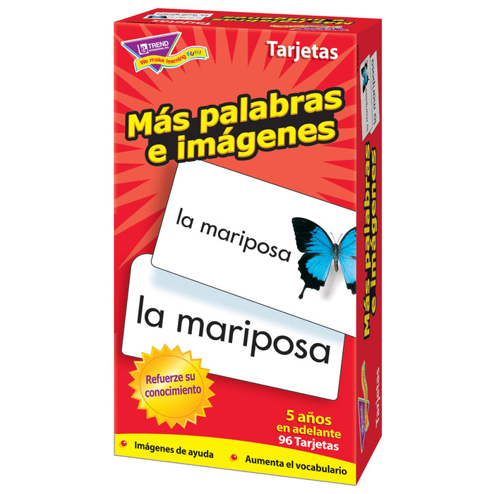 T53007 Flash Cards More Picture Words Spanish Box Right