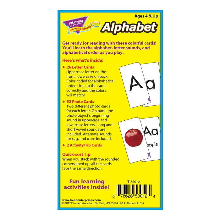 T53012 Flash Cards Alphabet Box Back