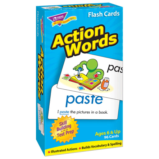 T53013 Flash Cards Action Words Box Left