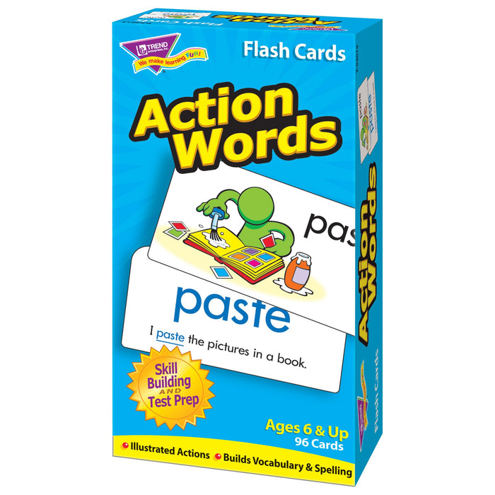 T53013 Flash Cards Action Words Box Right