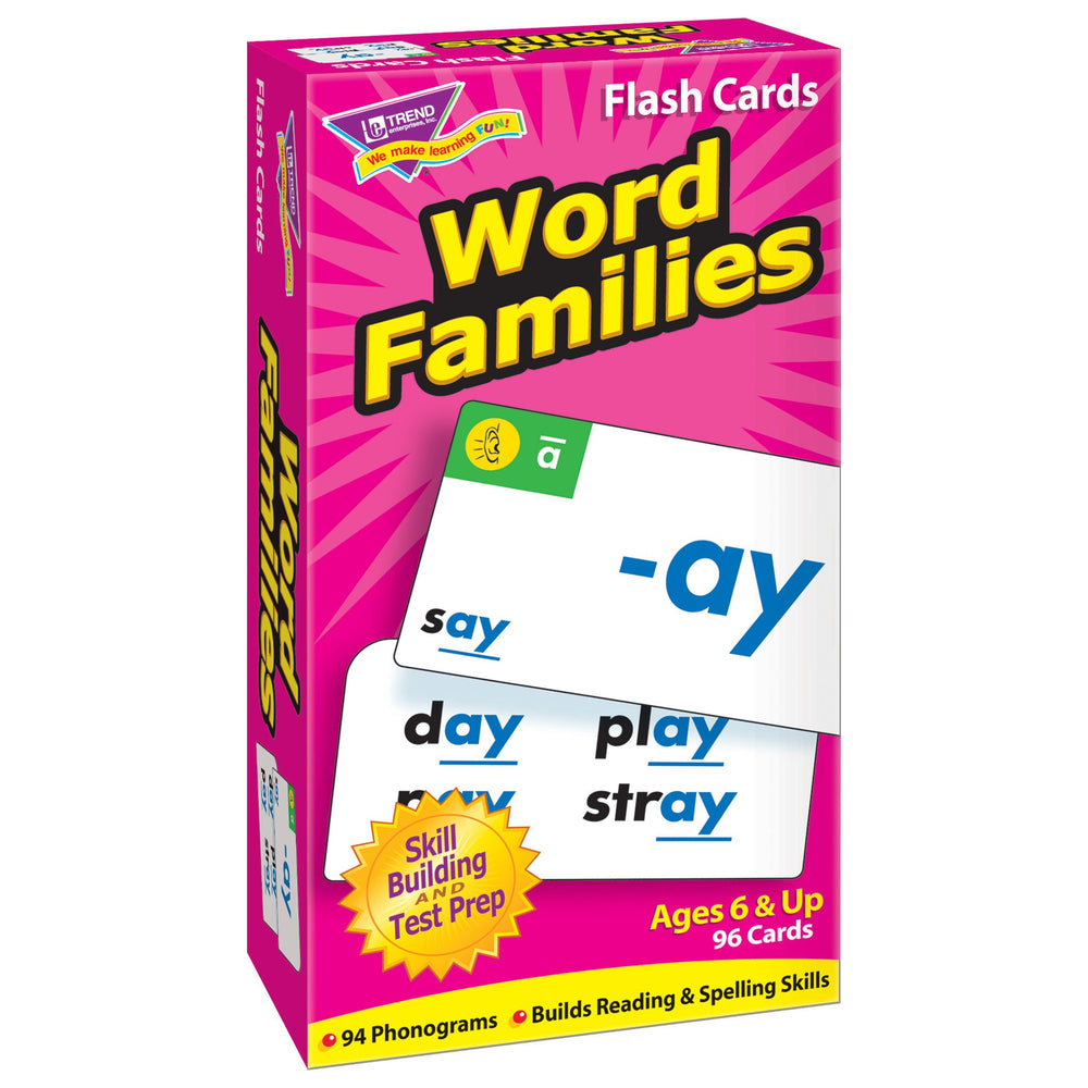 T53014 Flash Cards Word Families Box Left