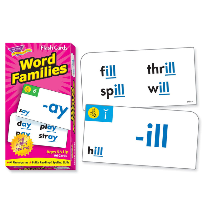 T53014 Flash Cards Word Families