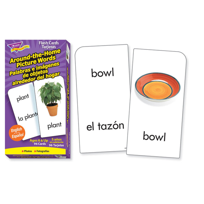 T53015 Flash Cards Around The Home Picture Words