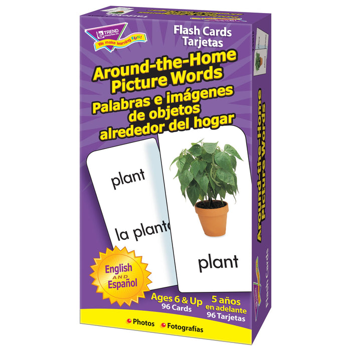 T53015 Flash Cards Around The Home Picture Words Box Right