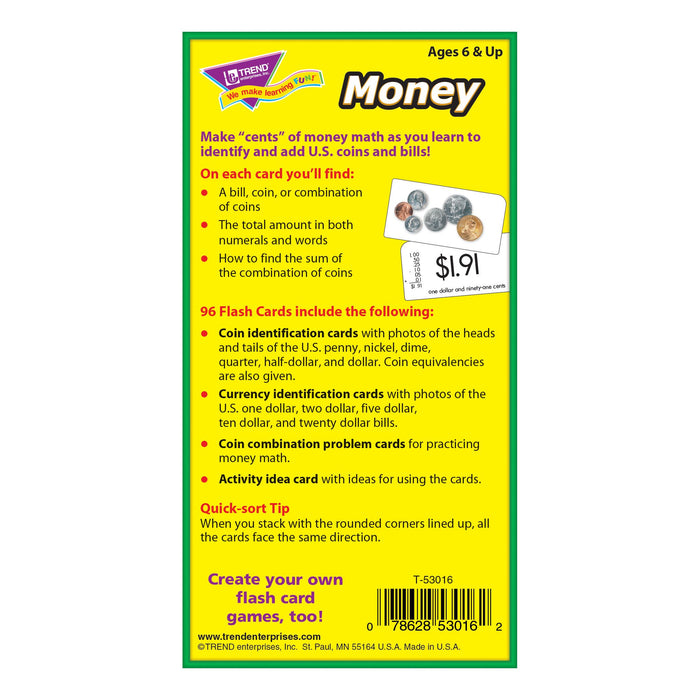 T53016 Flash Cards Money Box Back