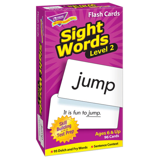 T53018 Flash Cards Sight Words Box Left