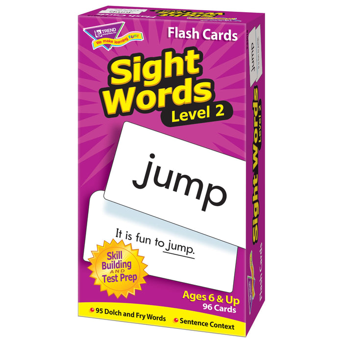 T53018 Flash Cards Sight Words Box Right