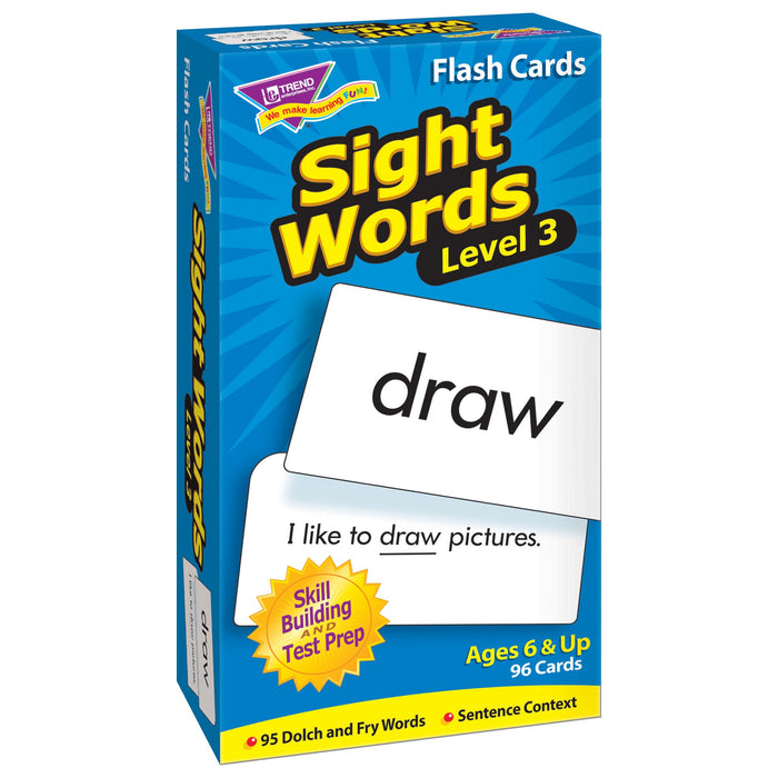 T53019 Flash Cards Sight Words Box Left