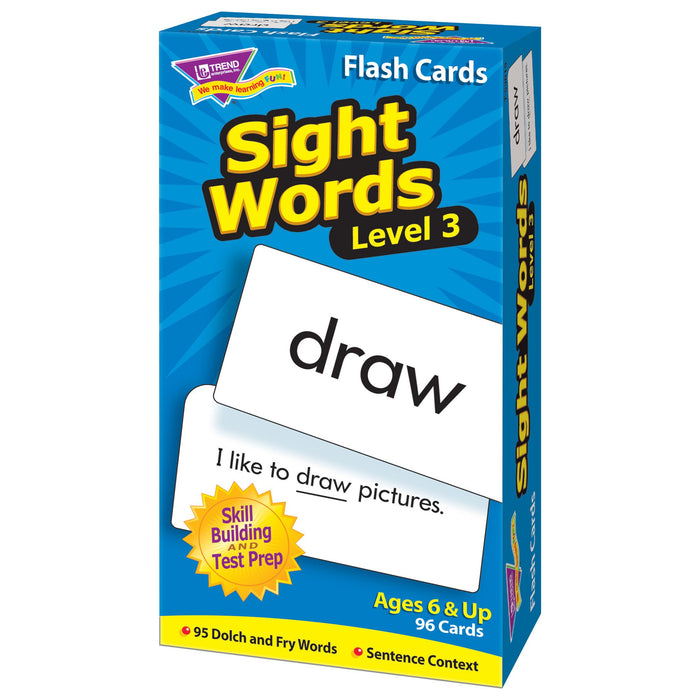 T53019 Flash Cards Sight Words Box Right