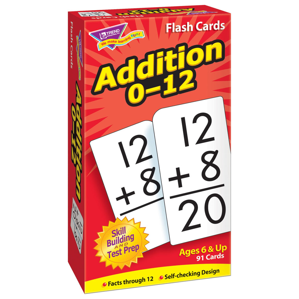 T53101 Flash Cards Addition 0-12 Box Left