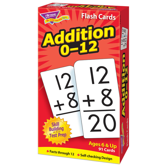 T53101 Flash Cards Addition 0-12 Box Right